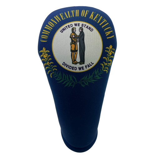 Kentucky State Flag Golf Club Head Cover - Front