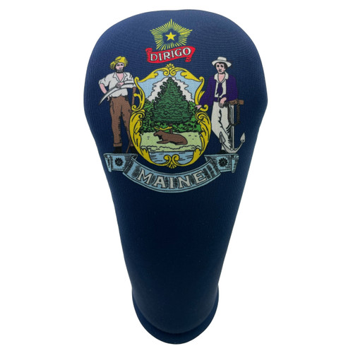 Maine State Flag Golf Club Head Cover - Front