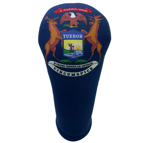 Michigan State Flag Golf Club Head Cover - Front