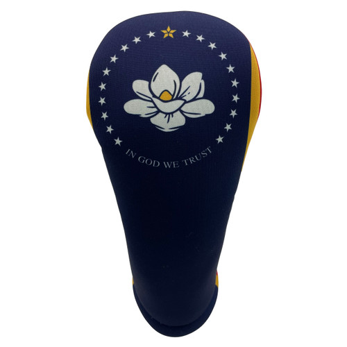 Mississippi State Flag Golf Club Head Cover - Front