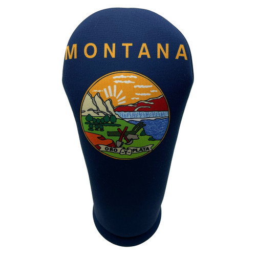 Montana State Flag Golf Club Head Cover - Front