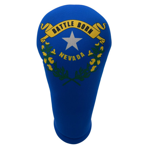Nevada State Flag Golf Club Head Cover - Front