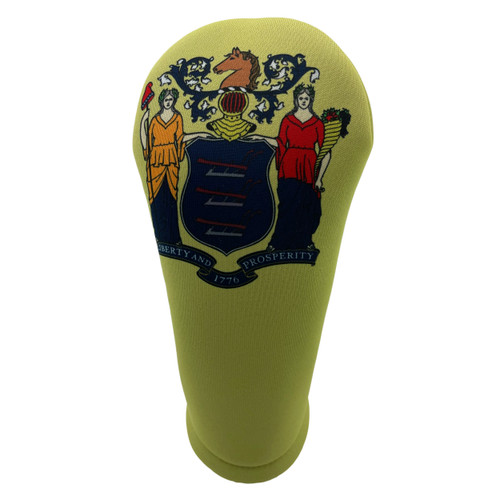 New Jersey State Flag Golf Club Head Cover - Front