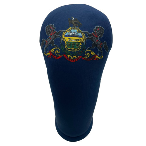 Pennsylvania State Flag Golf Club Head Cover - Front