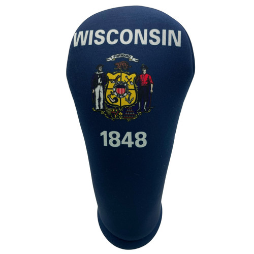 Wisconsin State Flag Golf Club Head Cover