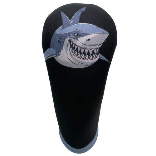 Animated Animals Shark Golf Club Head Cover by BeeJos - Front
