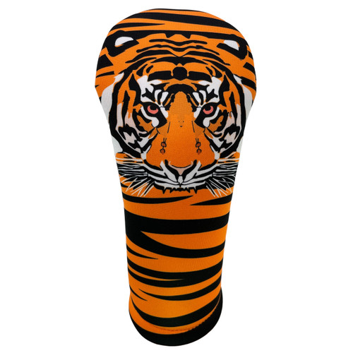 Animated Animals Tiger Golf Club Head Cover by BeeJos - Front