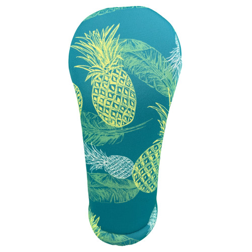 Green Pineapples Hawaiian Print Golf Club Head Cover by BeeJos - Front