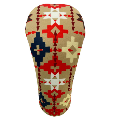 Tan Geometric Native American Patterned American Southwest Golf Club Head Cover - Front