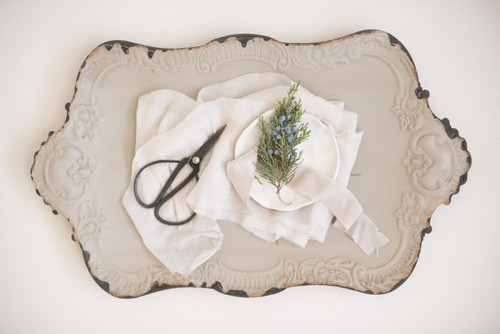 Painted High Tea Tray - Antiqued Grey