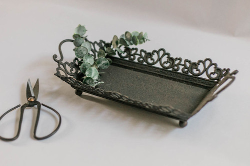 Styling Tray with Rust Finish