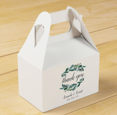 Custom Gable Welcome/Favor Boxes - Set of 10