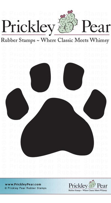 Paw Prints, Sm - Red Rubber Stamp