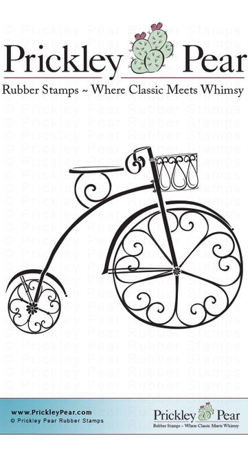 Victorian Trike, Small - Red Rubber Stamp