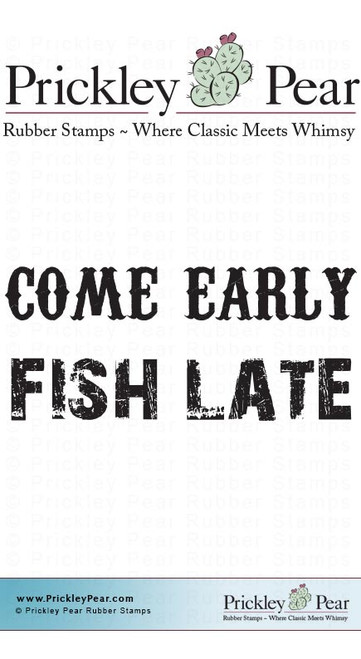 Come Early - Red Rubber Stamp