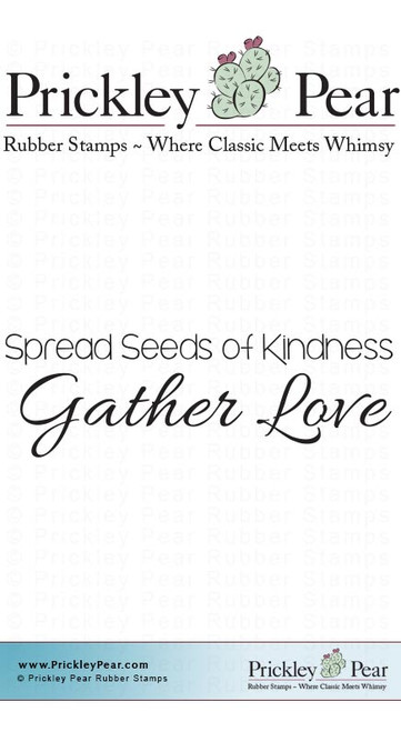 Gather Love - Red Rubber Stamp