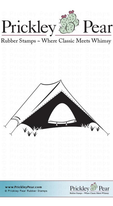 Camping Tent - Red Rubber Stamp