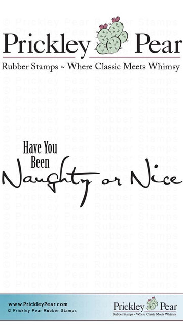 Naughty or Nice - Red Rubber Stamp