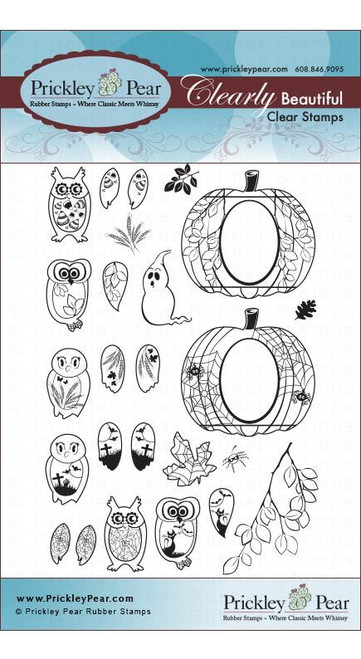 Coordinating Clear Stamp Set - CLR024A Mini Owls 2 (Not Included)