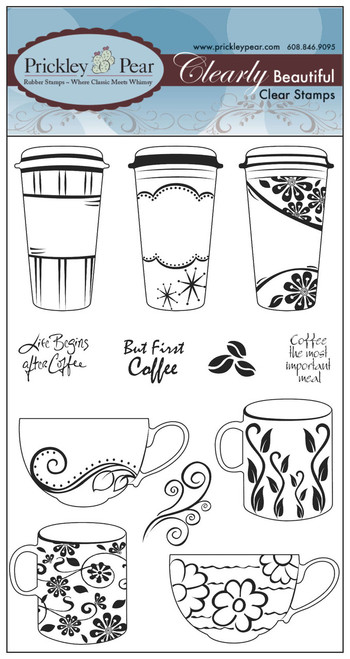 Coffee Cup Clear Set - Clear Stamp Set