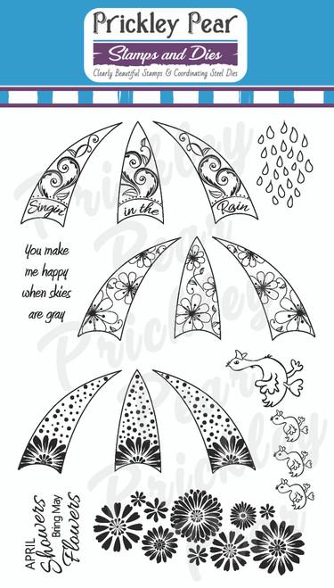 CLR055 Build an Umbrella stamp set