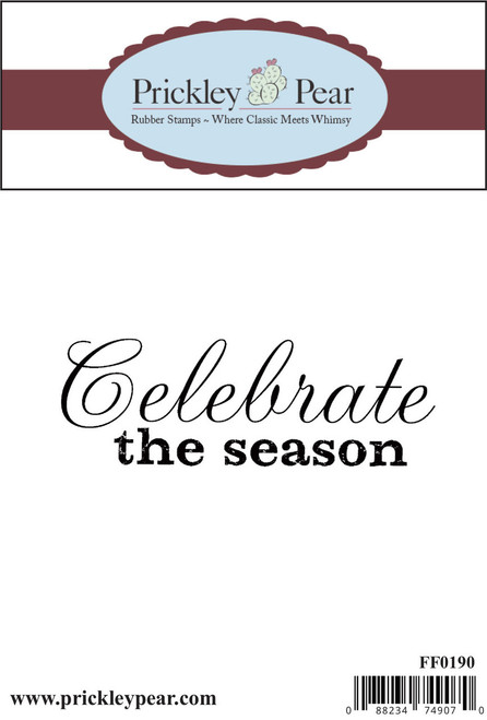 Celebrate the Season - Red Rubber Stamp