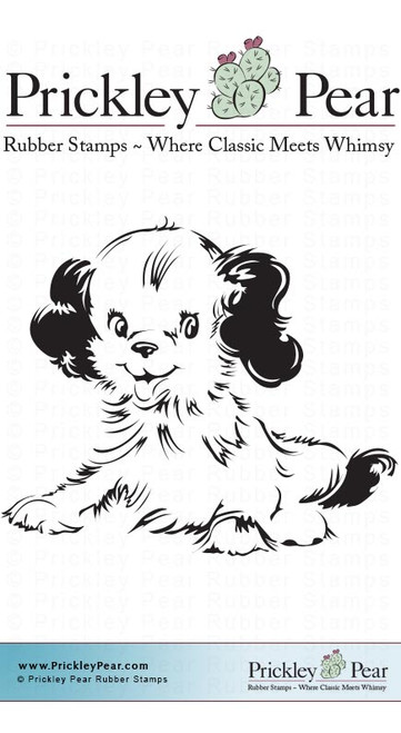 Murphy the Dog, Small - Red Rubber Stamp