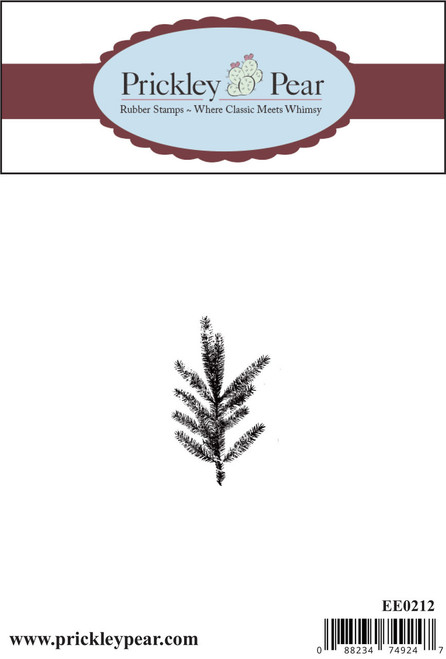Pine Branch - Red Rubber Stamp