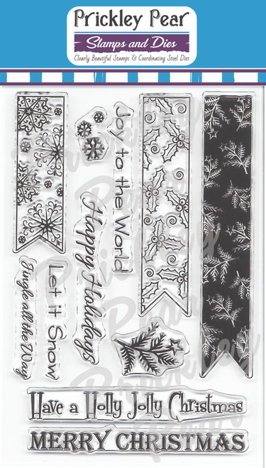 CLR062 Christmas Banner Clear Stamp Set
