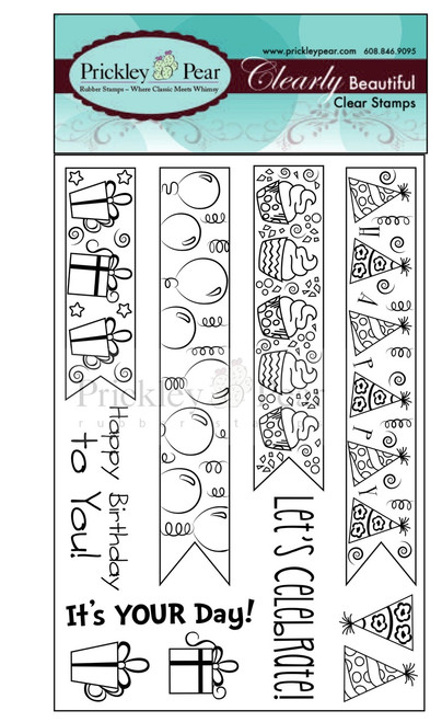 Birthday Banners Clear Stamp Set