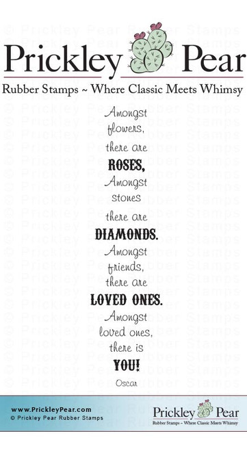 Roses and Diamonds - Red Rubber Stamp