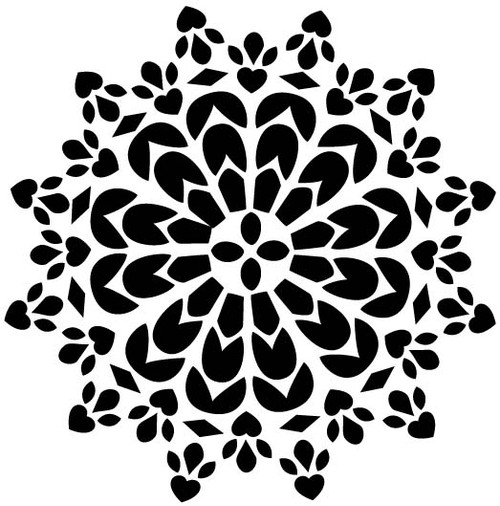 Hearts Doily - Red Rubber Stamp