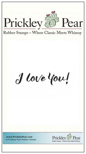 I Love You! 2 - Red Rubber Stamp