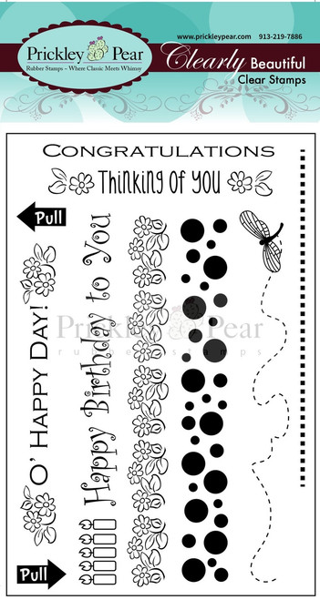 Zipper Card Clear Stamp Set