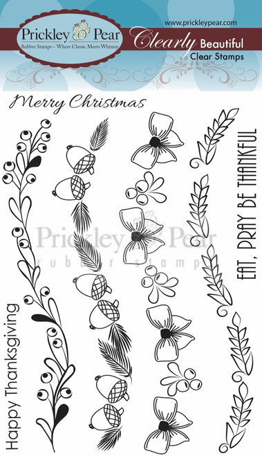 Scalloped Borders Fall Clear Stamp Set