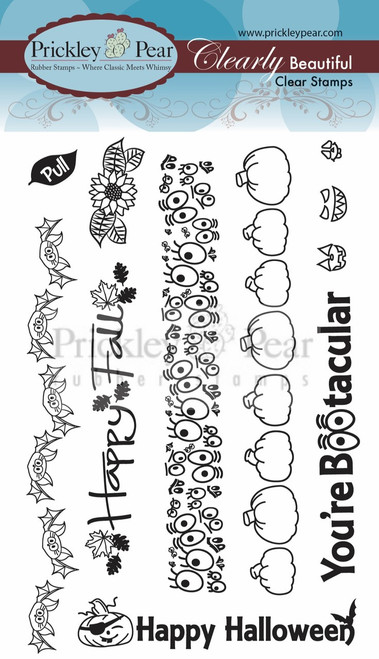 Zipper Card Clear Stamp Set - Fall/Halloween