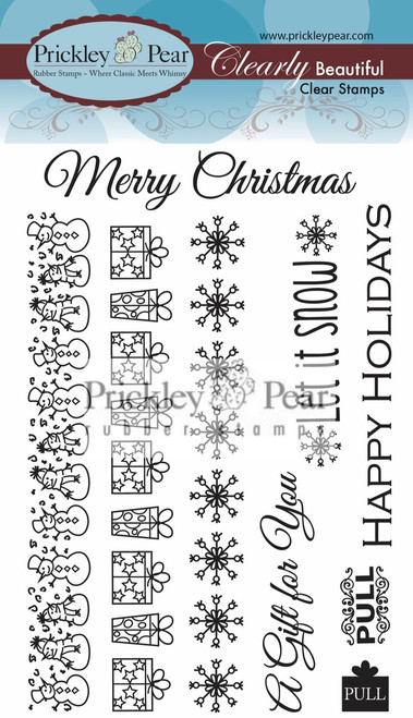 Zipper Card Clear Stamp Set - Christmas