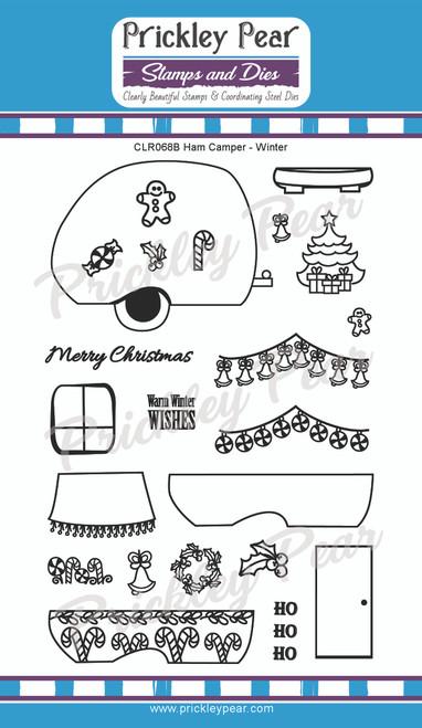 Ham Camper Clear Stamp Set - Winter CLR068B