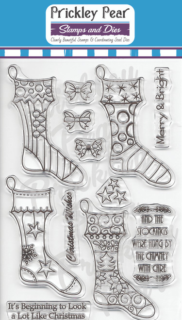 CLR036A Stocking 2 Clear Stamp Set