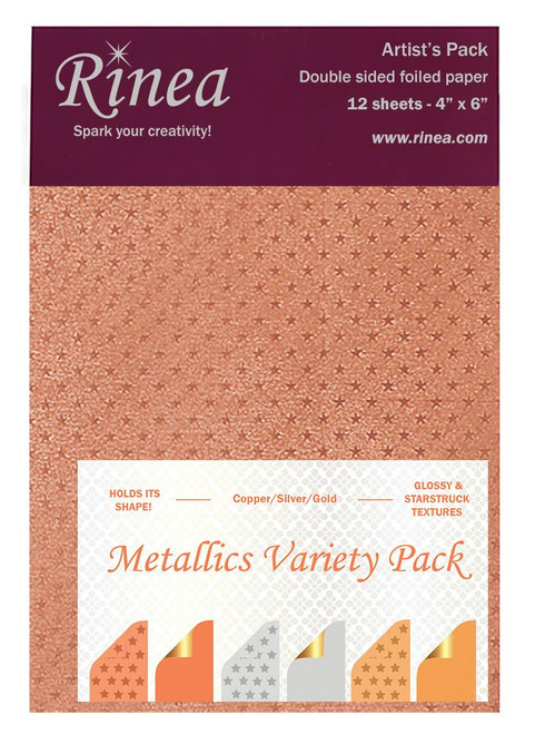 Metallics Foiled Paper Variety Pack - Artist's pack