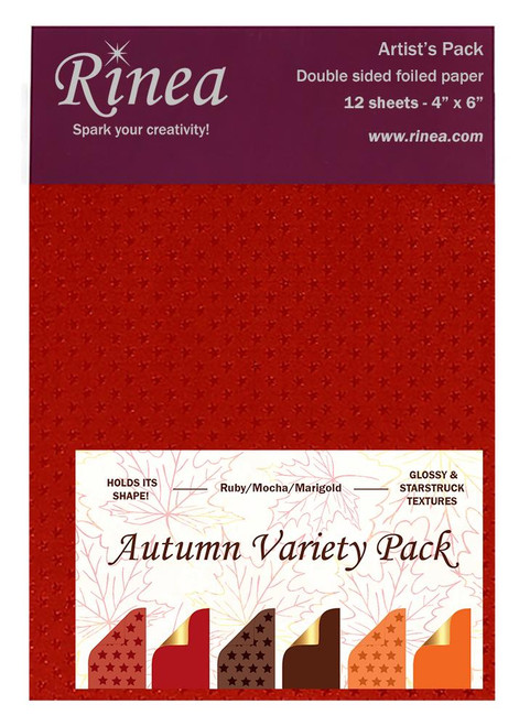 Autumn Foiled Paper Variety Pack - Artist's pack