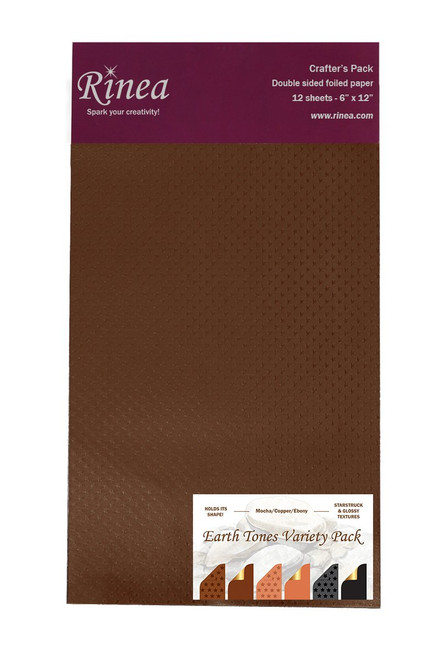 Earth Tones Foiled Paper Variety Pack - Crafter's Pack