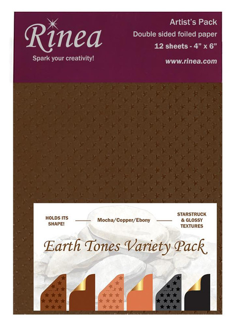 Earth Tones Foiled Paper Variety Pack- Artist's pack