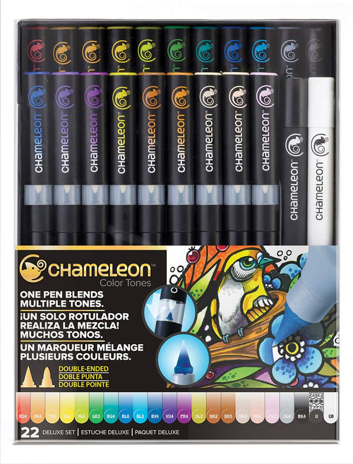 Chameleon Art Products 22 Piece Deluxe Marker Pen Set
