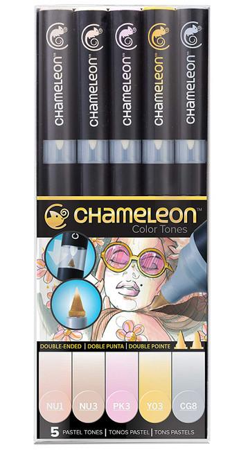 Chameleon Art Products 5 Piece Marker Pen Set - Pastel Tones