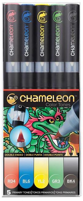 Chameleon Art Products 5 Piece Marker Pen Set - Primary Tones
