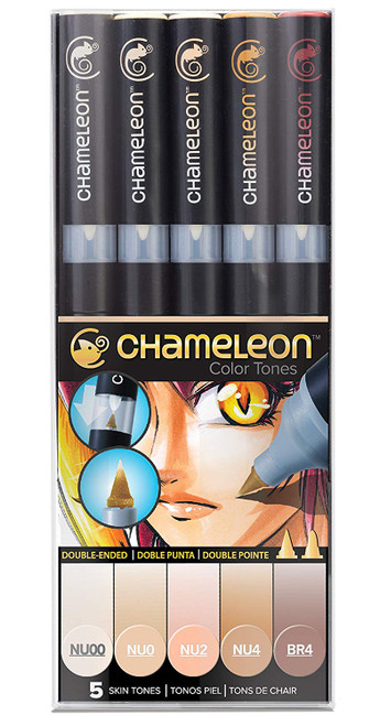 Chameleon Art Products 5 Piece Marker Pen Set - Skin Tones