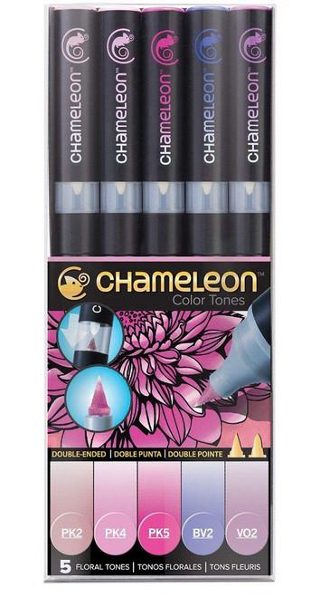 Chameleon Art Products 5 Piece Marker Pen Set - Floral Tones