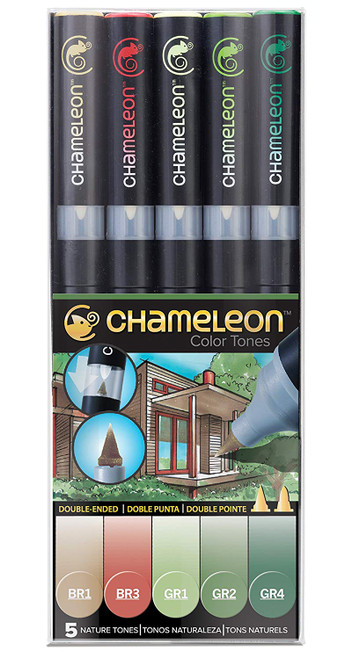 Chameleon Art Products 5 Piece Marker Pen Set - Nature Tones