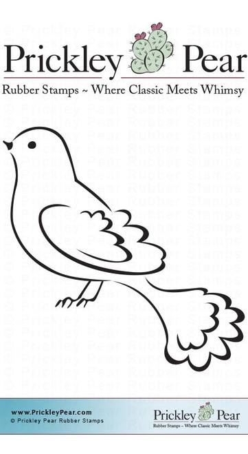 Dove, Small - Red Rubber Stamp